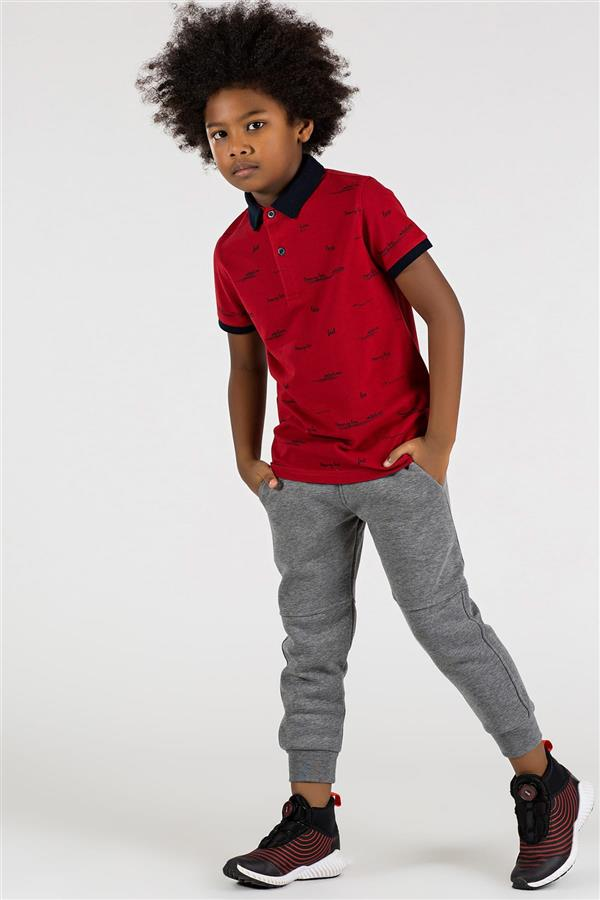 تیشرت نخی نوجوان پسرانه قرمز تامی لایف |