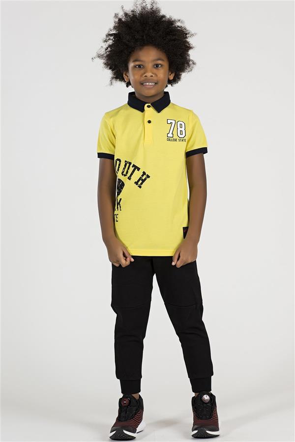تیشرت نخی نوجوان پسرانه زرد تامی لایف |