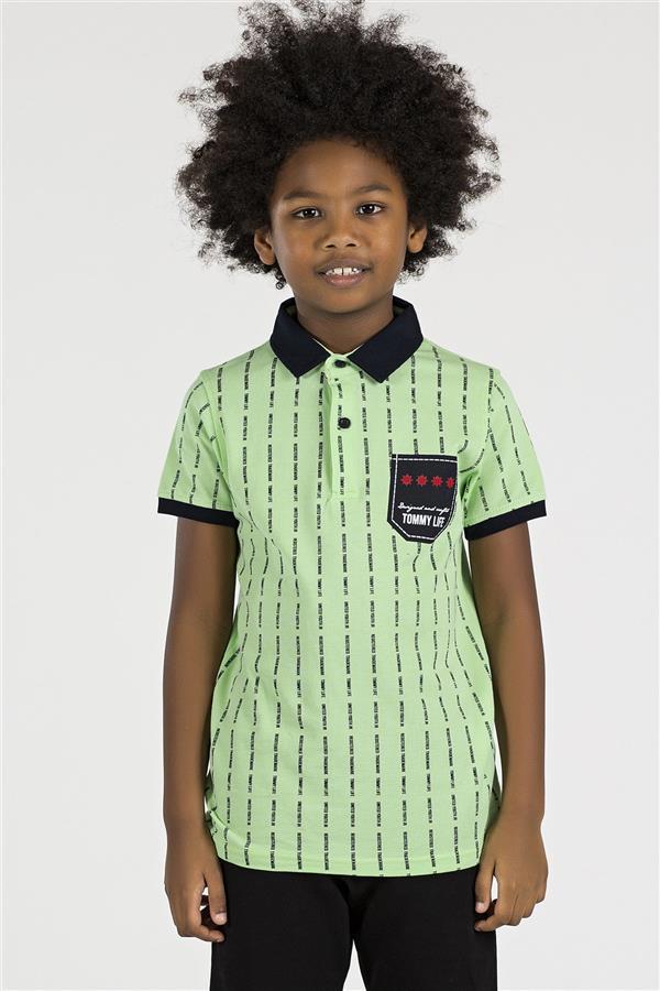 تیشرت نخی نوجوان پسرانه سبز تامی لایف 2 |